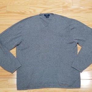 Brooks Brothers Sport Gray V-neck Sweater